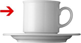 Kaffeeobertasse 0,18 l, hohe Form, Form Thomas Trend - uni weiss