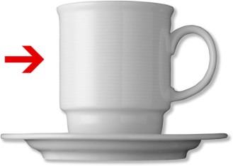 Henkelbecher, Inhalt: 0,25 ltr., Form Thomas TREND, Porzellan, uni weiss