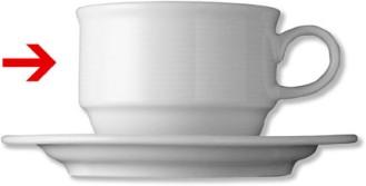 Cappuccinoobertasse, Inhalt: 0,22 ltr., Form Thomas TREND, Porzellan, uni weiss