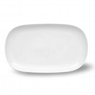 Platte oval SOLEA, Farbe: weiß, Maße: 32 x 18 cm.