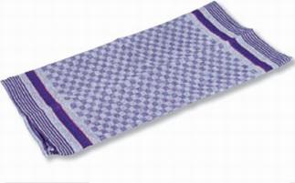 Grubentuch aus 100% Baumwolle, Farbe: blau / grau kariert, Maße: 1000 x 500 mm,