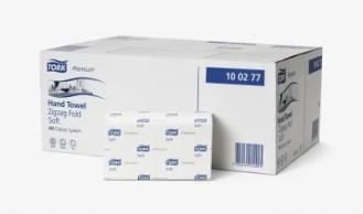 Tork Premium Handtuchpapier 23 x 23 cm, hochweiße TAD-Qualität H3, Inhalt: 15 x 200 = 3000 Tücher