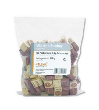 Würfelzucker - 2 Würfel pro Portionspack - 4,4 g Inhalt 100 Stück im Klarsichtbeutel