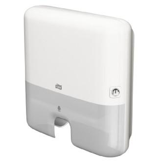 Tork Elevation Handtuchspender H2 für Interfold Handtücher, weiss Maße: 302 x 444 x 102mm
