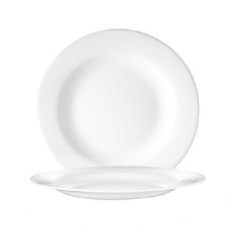 Dessertteller flach 19,5 cm Durchmesser Form EVOLUTION uni weiß - Arcoroc