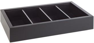 Besteck- / Universal-Box 53 x 32,5 cm, H: 11 cm  Buche, massiv, Farbton Wenge 2- teilig, Box und  herausnehmbarer Einsatz 4 Fächer -FRAMES-