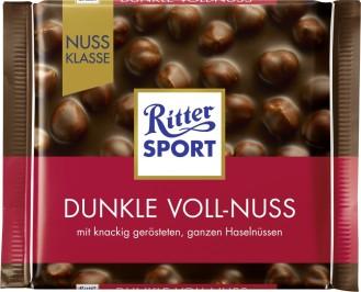 Ritter Sport Dunkle Voll Nuss Nuss-Klasse 100G