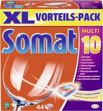 SOMAT Tabs MULTI 10, Inhalt: 54 Stück, XXL Vorteilspack, für die Spülmaschine.