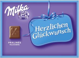 Milka Herzlichen Glückwunsch Milchcreme Pralines  110G