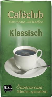 Caféclub KLASSISCH, Inhalt: 500 g gemahlener Filterkaffee.