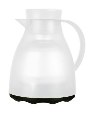 Isolierkanne EASY CLEAN, Inhalt: 1 Liter, von Emsa, Farbe: weiß transluzent, spülmaschinenfest, Höhe: 220 mm