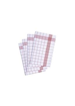10 Stück Geschirrtuch rot - 50 x 70 cm