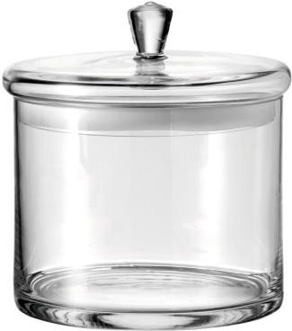 Leonardo Glasdose TOP, mit Deckel, Höhe: 200 mm, Durchmesser: 180 mm, groß