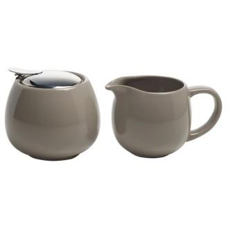 Maxwell  Williams Milch und Zucker Set  InfusionsT Taupe, Geschenkbox, Keramik