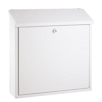 ALCO Briefkasten 36 x 36 x 10 cm (B x H x T)  Edelstahl weiß