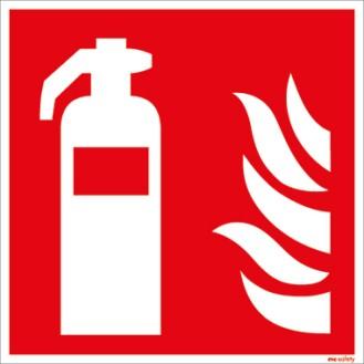 Hinweisschild Feuerlöscher 20 x 20 cm (B x H)  Feuerlöscher PVC-Folie