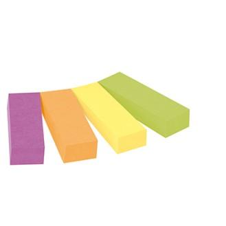 Post-it® Haftstreifen Page Marker schmal mehrfach  verwendbar 1 x ultrapink, 1 x neonorange, 1 x  ultragelb, 1 x neongrün 4 Block/Pack.
