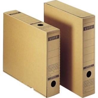 Leitz Archivbox Premium 7 x 32,5 x 26,5 cm (B x H  x T) DIN A4 mit Archivdruck Wellpappe  recycelt/Natronpapier, kaschiert naturbraun