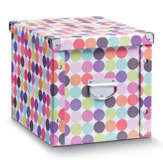 esmeyer ihr ausstatter f r betrieb und einrichtungen zeller aufbewahrungsbox dots pappe. Black Bedroom Furniture Sets. Home Design Ideas