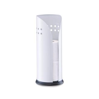 Zeller Toilettenrollenhalter, weiß, Metall