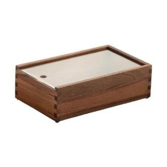 Zieher Besteckbox Holz 26,5x16,2x8,0cm, walnuss