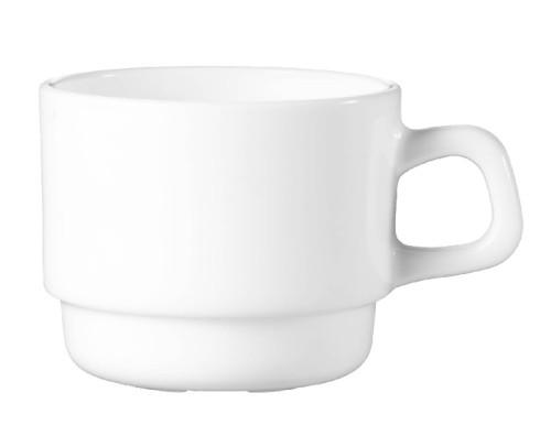 Kaffeeobertasse 19 cl Form Restaurant uni weiß ARCOPAL