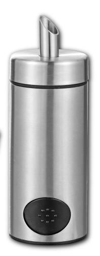 Zucker- und Süßstoffspender PATTY, Material: Edelstahl 18/10, mattiert Durchmesser: 50 mm, Höhe: 142 mm,