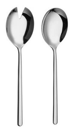 2-tlg. Salatbesteck VENTURA,  Edelstahl 18/10, poliert, Länge: 21,0 cm.