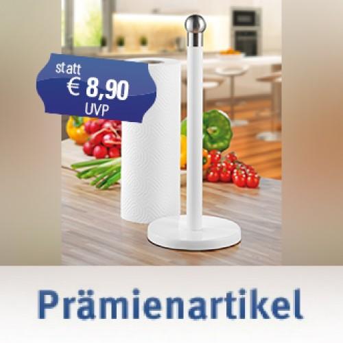 Küchenrollenhalter TOWER, aus beschichtetem Edelstahl, Farbe: Weiss, im Geschenkkarton.
