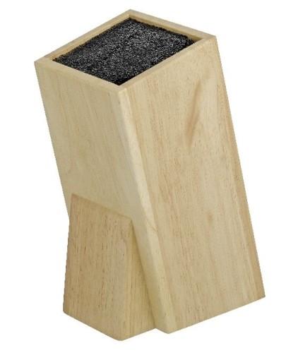 Universal-Messerblock WONDER  aus Gummibaumholz, im Geschenkkarton