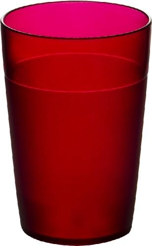 Roltex Becher FUNKY, Inhalt: 0,25 Liter, Farbe: rot, Höhe: 100mm, aus Polycarbonat, spülmaschinen- und mikrowellengeeignet.