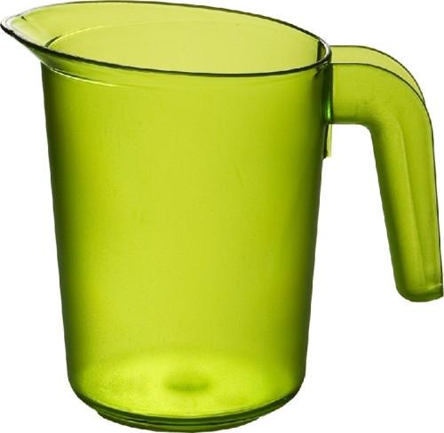 Roltex Saftkanne LUCY, Inhalt: 0,5 Liter, Farbe: grün, Höhe: 122 mm, aus Polycarbonat, spülmaschinen- und mikrowellengeeignet.