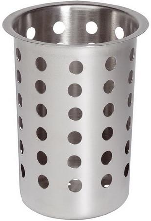 Köcher für Besteckbehälter, Edelstahl, Höhe: 13,7 cm, Durchmesser: 9,7