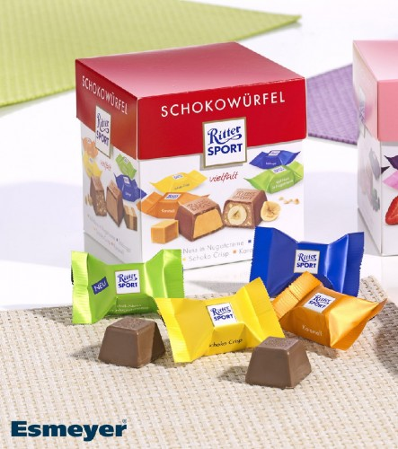 Ritter Sport  Schokowürfel VIELFALT, Inhalt: 22 Stück à 8 g je Karton.