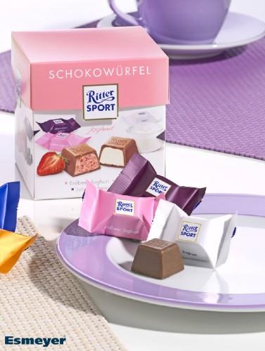 Ritter Sport Schokowürfel JOGHURT,  Inhalt: 22 Stück à 8 g je Karton.