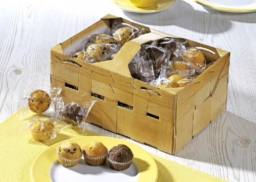 Hellma Mini Muffins, Inhalt: 60 Stück à 14 g je Korb.