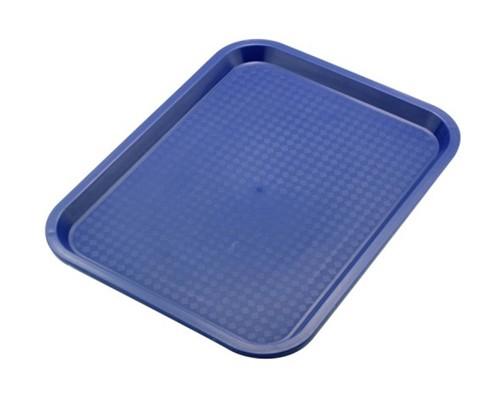 Tablett MODERN 35 x 27 cm, Farbe: blau mit Stapelnocken, bedingt rutschfest