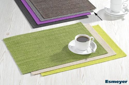 APS Tischset HIVA, Farbe: silbergrau, Größe: 45 x 33 cm, PVC, Schmalband
