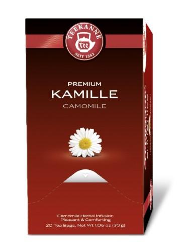 Teekanne Premium KAMILLE, Inhalt: 20 Beutel à 1,75 Gramm, Kräutertee, wohltuend und bekömmlich.