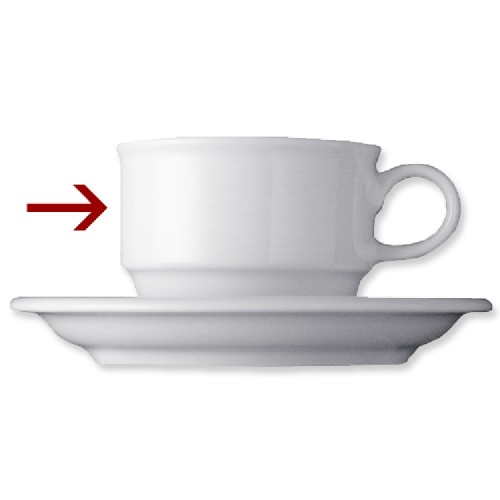 Kaffeeobertasse, Inhalt: 0,18 ltr., flach, Form Thomas TREND, Porzellan, uni weiss