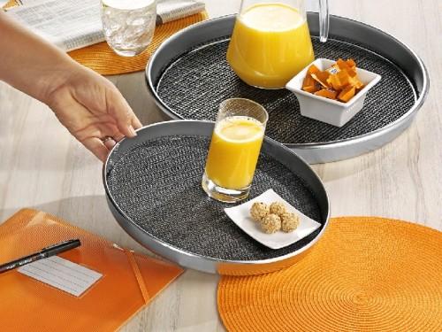 Rutschfeste Einlage 28 cm, für Tablett Safe 29 cm, schwarz, bis 60 Grad waschbar