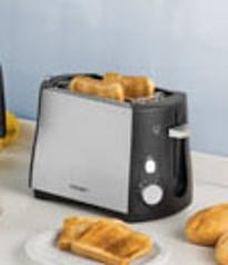 Toaster CLOER 3410 - 230 V, 825 W - mattiertes Metallgehäuse, für 2 Toastscheiben,
