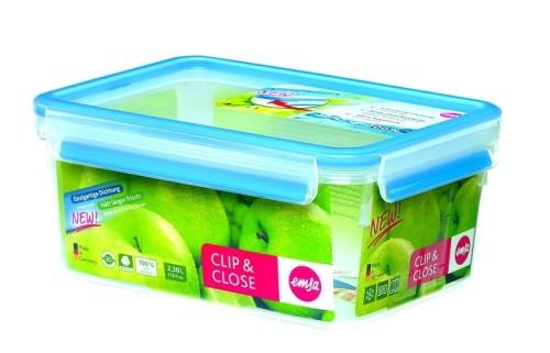 Emsa Frischhaltedose Clip  Close 3D Perfect Clean, Inhalt: 2,3 l, rechteckig LxBxH: 226x167x99 mm