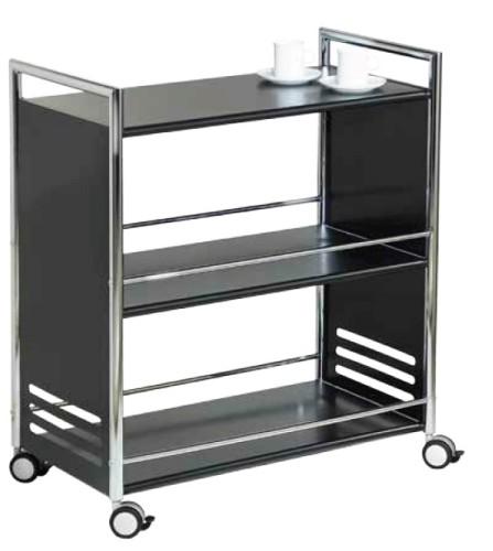 esmeyer ihr ausstatter f r betrieb und einrichtungen servierwagen chicago schwarz. Black Bedroom Furniture Sets. Home Design Ideas