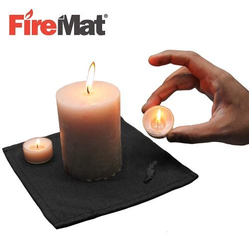 KeyCoon Firemat Brandschutzunterlage schwarz Edition 70x100cm