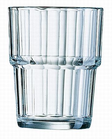 Becher-/Saftglas NORVEGE, Inhalt: 0,25 Liter, Höhe: 94 mm, Durchmesser: 77 mm, stapelbar, Arcoroc.