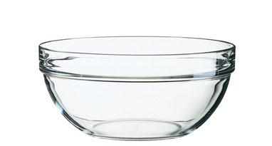Glasschale EMPILABLE Inhalt 180 cl Durchmesser: 200 mm, Höhe: 91 mm, stapelbar.
