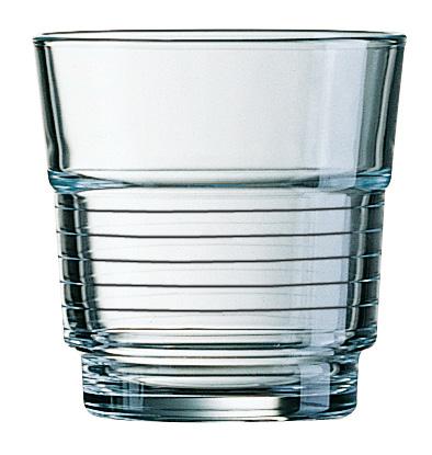 Saft-/Whiskybecher SPIRALE, Inhalt: 0,2 Liter, Höhe: 77 mm, Durchmesser: 77 mm, stapelbar, Arcoroc.