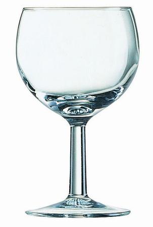 Weinglas BALLON, Inhalt: 0,25 Liter, Höhe: 136 mm, Durchmesser: 83 mm, Füllstrich bei 0,20 Liter.