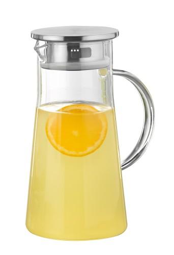 """Glaskaraffe """"PORTO"""" mit Griff, Inhalt 1 Liter, Höhe 22,6 cm, Breite 10,8 cm,  hergestellt aus Borosilikatglas,"""